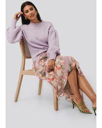 NA-KD Flowy Chiffon Skirt - Roze