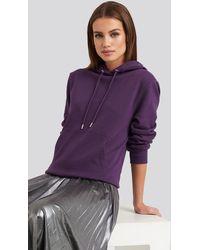 NA-KD Front Pocket Hoodie Purple