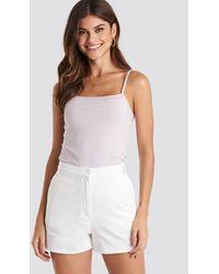 NA-KD White High Waist Shorts