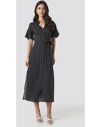 Trendyol Polka Dot Midi Dress - Zwart
