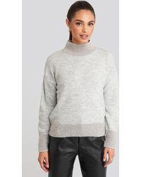 Trendyol Beard Yarn Sweater - Grijs