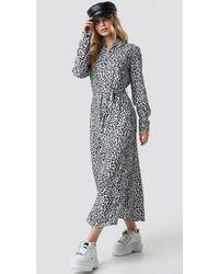 NA-KD Leopard Printed Shirt Dress - Mehrfarbig