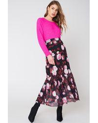 NA-KD Mesh Ankle Length Skirt - Rood