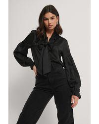 Rut&Circle Black Zara Boe Tie Blouse