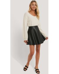 NA-KD Black Circle Pu Skirt