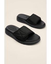 NA-KD Faits En Velcro Pantoufles - Noir