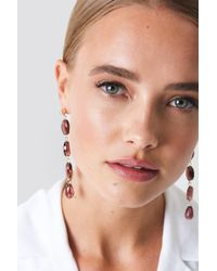 NA-KD - Hanging Colorful Stones Earrings - Lyst