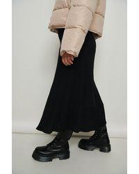 NA-KD Black Profile Lace Up Shaft Boots