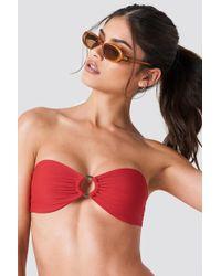 NA-KD - Circle Bandeau Bikini Top Red - Lyst