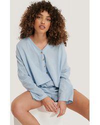 Trendyol Loose Fit Pyjamas Set - Blauw