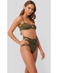 Trendyol Green Ring Detail Bikini Top