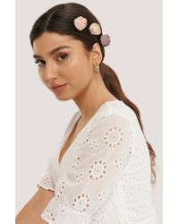 NA-KD - Pink 3-pack Vintage Look Blossom Hairclips - Lyst