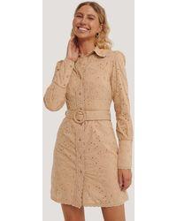 NA-KD - Boho Anglaise Collar Mini Dress - Lyst