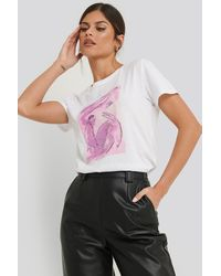 NA-KD - Trend Abstract Art Printed Basic Tee - Lyst