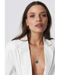 NA-KD - Moon Pendant Necklace Gold - Lyst