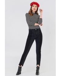 NA-KD - Panel Jeans Black - Lyst