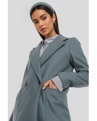 Mango Grey Timver Coat - Blue