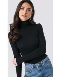 NA-KD - Trend Polo Neck Long Sleeve Top - Lyst