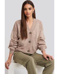NA-KD Trend Korte Vest Met Knopen Voor - Roze