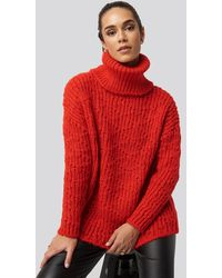 Trendyol Turtleneck Knitted Sweater - Rood