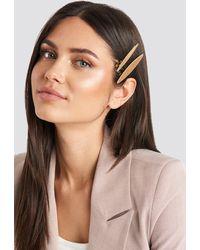 NA-KD 2-pack Slim Hairclips - Metallic