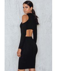 Passion Fusion Bodycon Exclusive Dress - Black