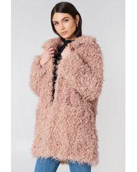 NA-KD - Faux Fur Coat - Lyst