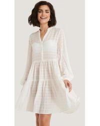 NA-KD Boho Structure A-Line Dress - Weiß