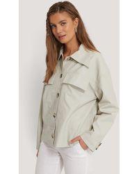 NA-KD - Trend Front Pocket Pu Jacket - Lyst