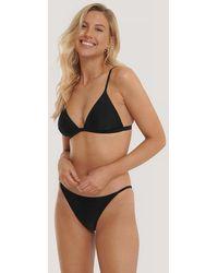 NA-KD Swimwear Culotte De Bikini À Fines Lanières - Noir