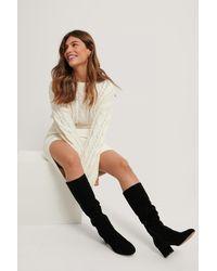 NA-KD Black Basic Knee High Boots