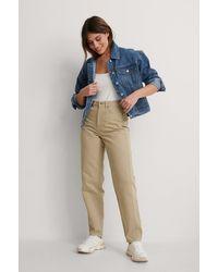 NA-KD Reborn Organisch Jeans Met Losse Pasvorm - Groen
