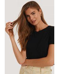 NA-KD T-shirt - Zwart