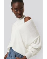 NA-KD White Two Piece Layered Sweater