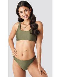 NA-KD - Ribbed Sporty Bikini Top - Lyst