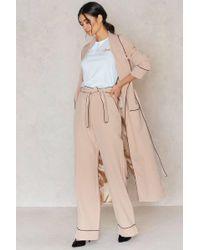 Lavish Alice - Pyjama Belted Wide Leg Trousers - Lyst