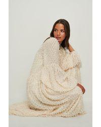 NA-KD Boho Recyclée Maxi Robe Floue Texturée - Neutre