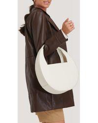 NA-KD Offwhite Squared Handle Moon Bag - Multicolour