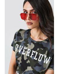 NA-KD - Squared Metal Sunglasses - Lyst