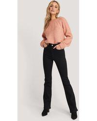 NA-KD Black Skinny Bootcut Jeans
