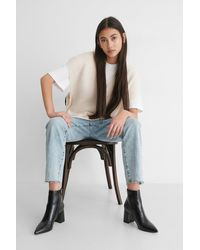 NA-KD Black Basic Structured Glossy Boots