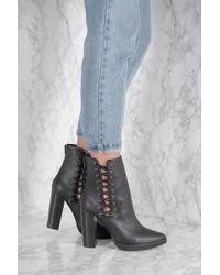 NA-KD - Lacing High Heel Boots - Lyst