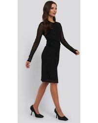 NA-KD Gathered Jersey Dress - Zwart