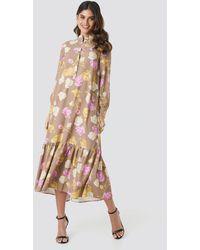 NA-KD Trend Printed Maxi Dress - Mehrfarbig