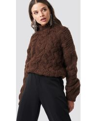 Mango - Knitted Braided Sweater - Lyst