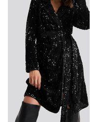 Rut&Circle Nea Wrap Dress - Zwart