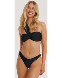 NA-KD Black V-shape Front Bikini Bottom