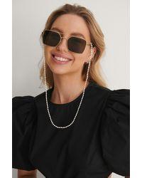 NA-KD Pearl Sunglass Chain - Wit