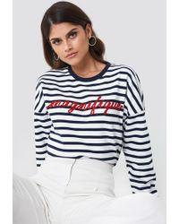 Mango - Embroidered Message Sweatshirt - Lyst