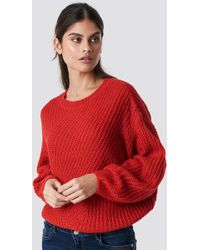 Top Secret - Wide Sleeve Knitted Jumper Red - Lyst